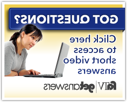 Getanswers Ad Banner: Female student on a laptop. Got Questions? Click here to access short video answers. FATV get answers logo.